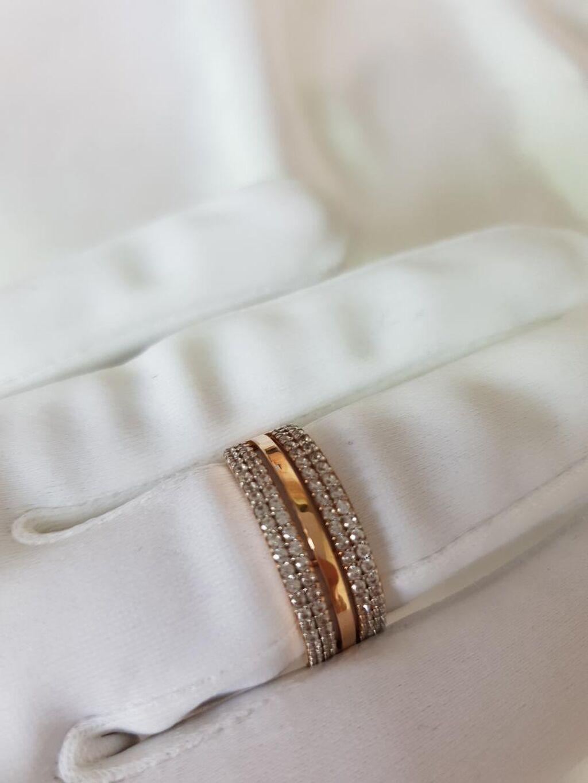 Оригинальное кольцо из розового золота 585 пробы
