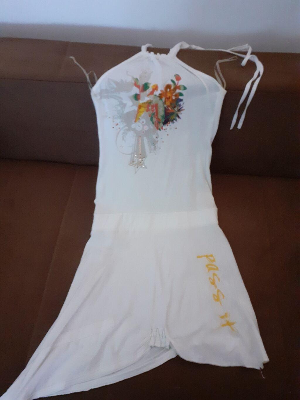 Pamucna, turska haljinica, u bež boji