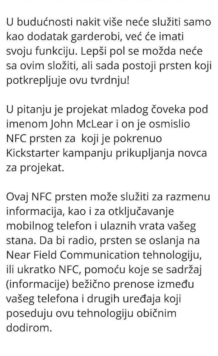 NFC- pametni prsten objasnjeno je sve na poslednjoj slici. Photo 3