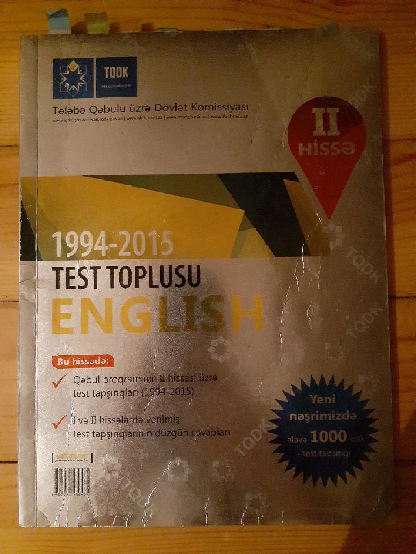 Test Toplusu Azərbaycan Dili 1 Ci Hissə 1994 2015 Baku Adazu Books