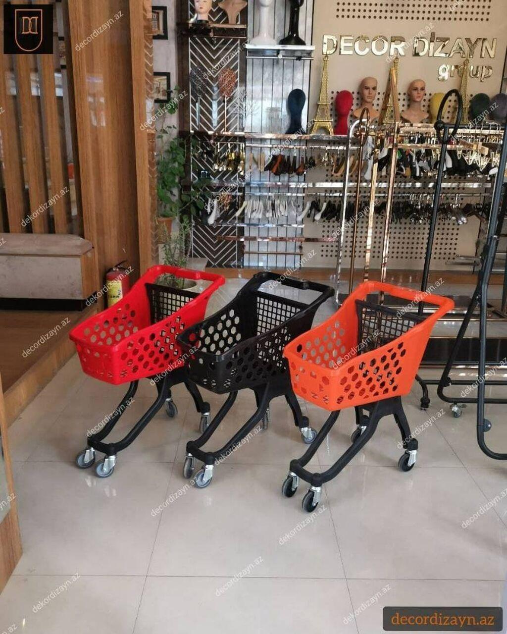 Mağaza arabaları - Bakı: Market arabasi, market ucun, tekerliReng: secim movcuddurMaterial