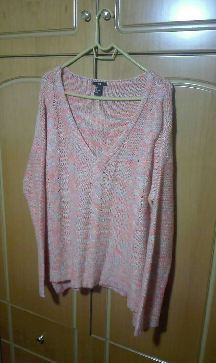 Πουλόβερ ροζ large. Photo 0