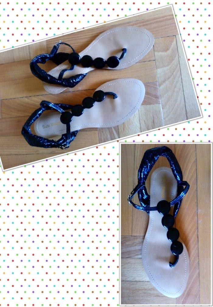 Ženske Sandale i Japanke - Bajina Basta: Crne sandale UG 24. Odgovaraju broju 37.5