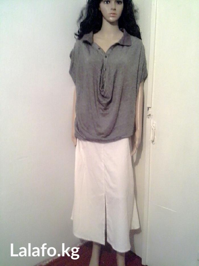 Белая юбка 44-46 р, и кофточка из легкого материла   в Бишкек