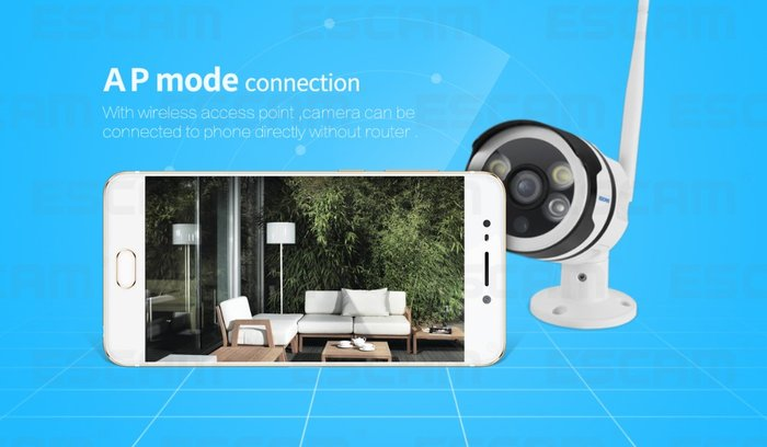 Escam qf508 HD 1080 P Simsiz WIFI IP Kamera Outdoor IP66 Suya davamlı. Photo 8