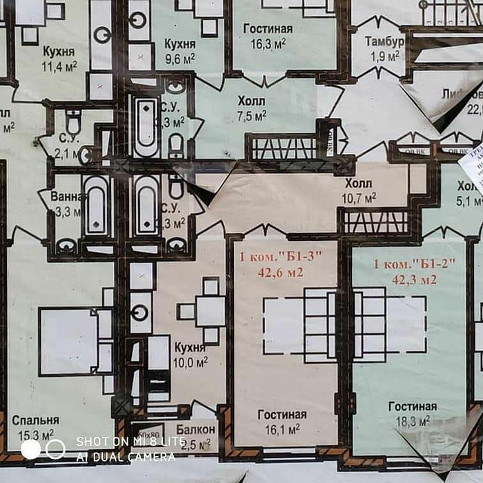 Продается квартира: 1 комната, 42 кв. м., Бишкек. Photo 4