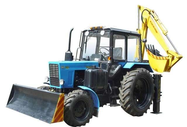 Экскаватор ЭО-2621 МТЗ - Спецтехника на базе трактора Беларус МТЗ, применяемая для механизации земляных работ (грунты категорий I – IV) и осуществления погрузочных работ