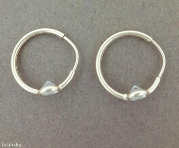 Серьги-кольца с камнями в Бишкек
