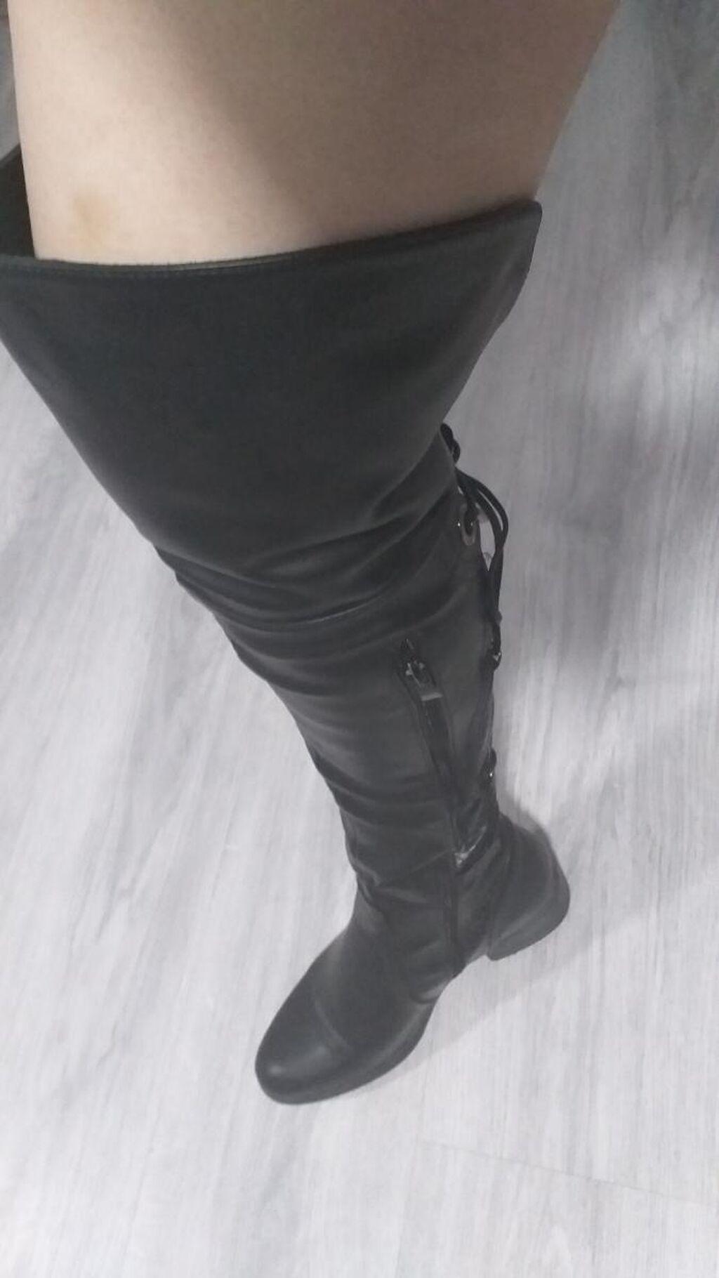Prodajem čizme iznad kolena, samo probane