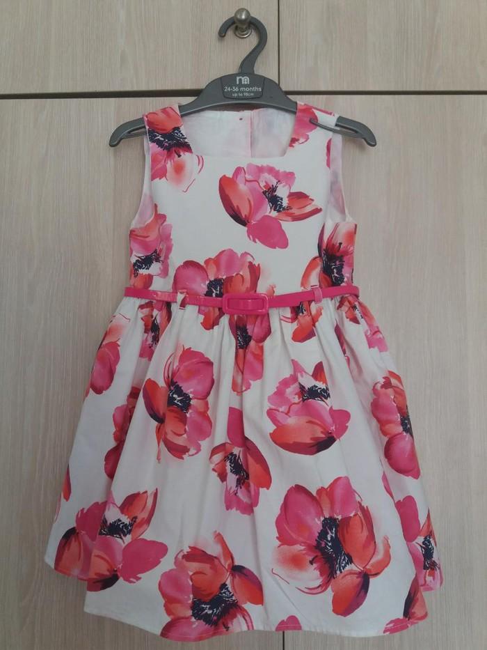 Mothercare floral φορεμα 2-3 ετων με ζωνη, φοδρα και κουμπακια πισω
