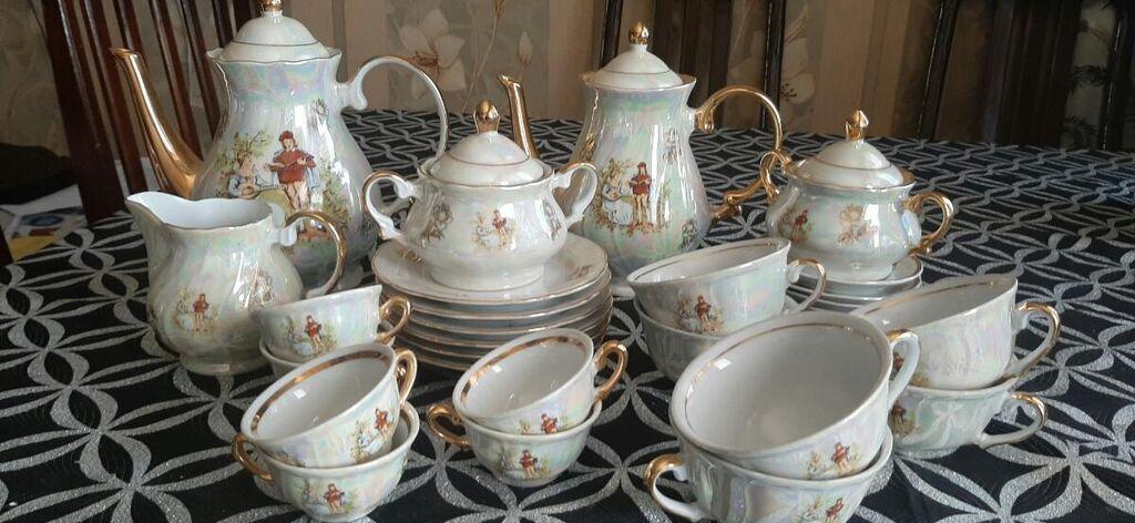 Вместе чайный и кофейный сервиз Мадонна 6 персон 100 ман: Вместе чайный и кофейный сервиз Мадонна 6 персон 100 ман