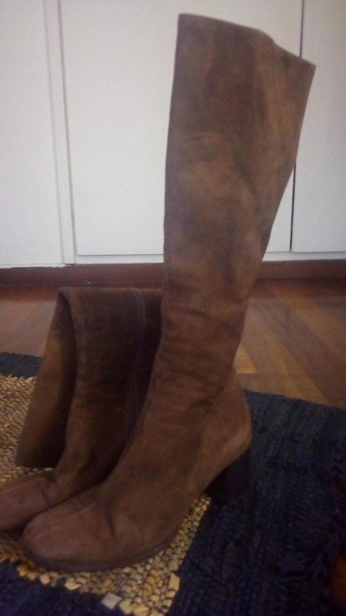 Γυναικείες μπότες νούμερο 37,5 σουετ γνήσιο δέρμα Vero cuoio σε Νέα Σμύρνη