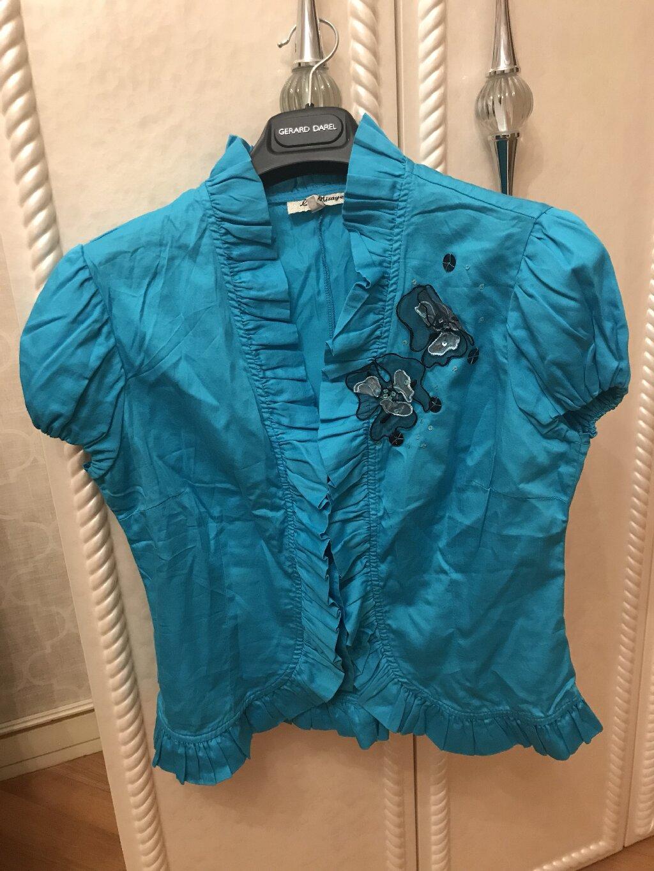 Bluzka mavi renkli