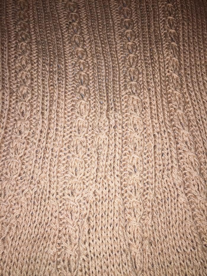 Μπεζ - αμμου πλεκτό κοττόν καλοκαιρινό μινι φορεμα . Photo 2