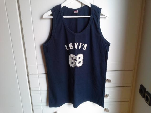 Levi's αμανικη μπλουζα (unisex) χρωματος μπλε σκουρο και μεγεθους L.. Photo 0