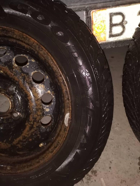 Продаю шины Goodyear с дисками 185/65/R14 подойдут на фит Демио аккорд протектор95%