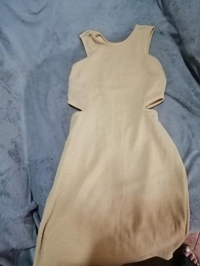 15€ Φόρεμα μπεζ χρυσό s/m