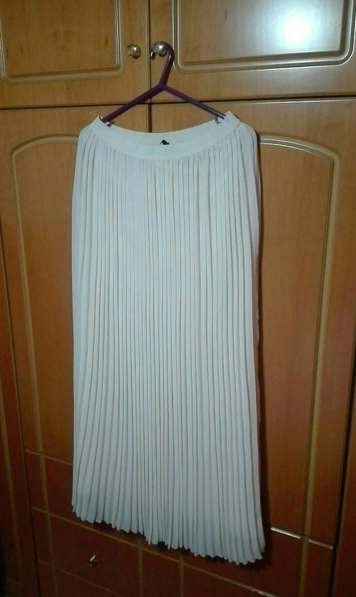 Μπεζ πλισε φούστα large μακριά. Photo 0