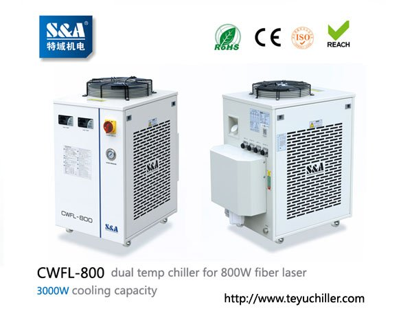 S&A laser chiller CWFL-800 for cooling 800W fiber laser cutting in Kathmandu