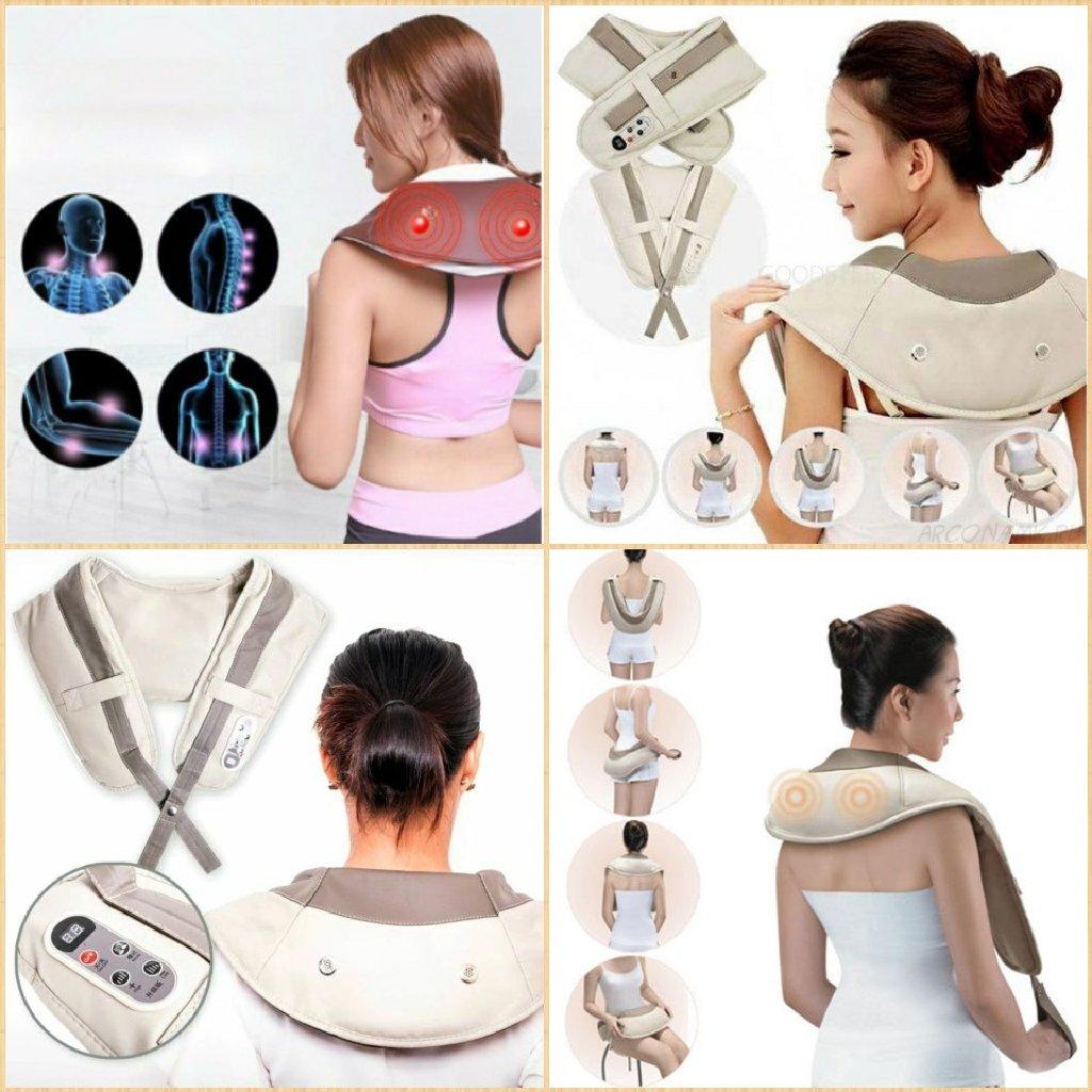 Ударный Вибромассажер для спины плеч и шеи Cervical Massage Shawls