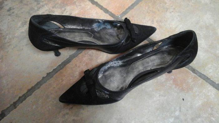 Σουτ παπούτσια με δερμάτινες λεπτομέρειες μεσαίο τακουνι. Photo 0