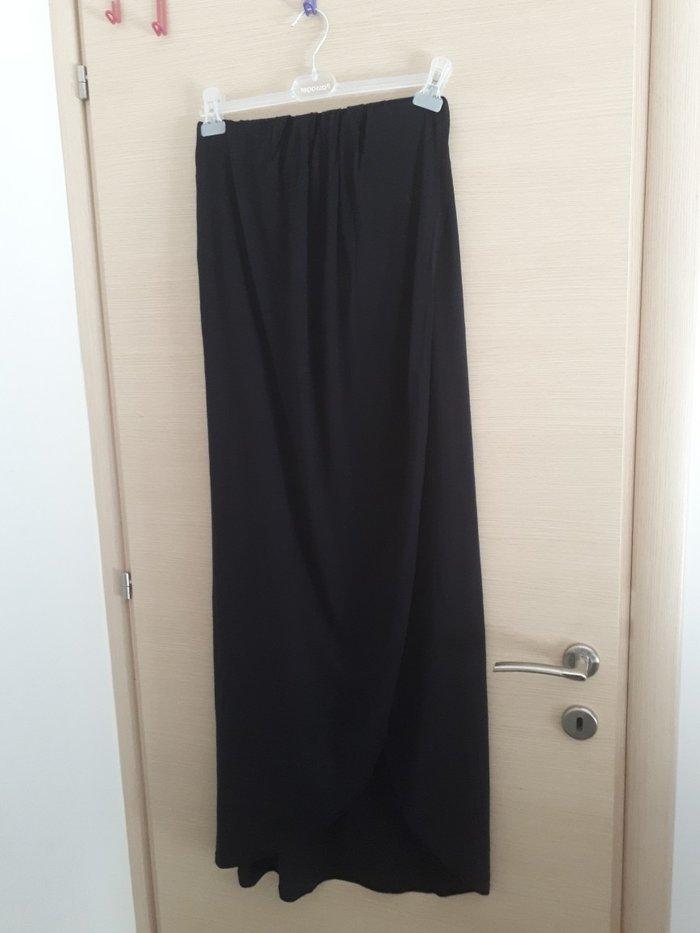 Φορεμα μακρυ μαυρο κρουαζε σαν φακελος. one size. 👉Πατωντας anthi στη. Photo 0