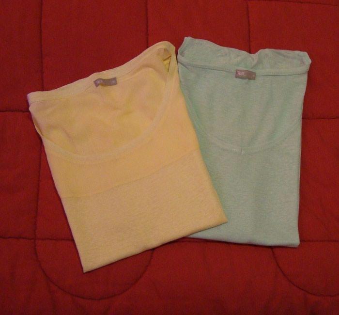 2 μπλούζες, βεραμάν και κίτρινο : XL, αφόρετες