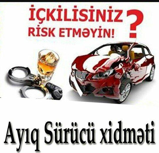 Ayiq surucu teleb olunur is saati 21.00-02.00a kimi emek haqqi en azi in Bakı
