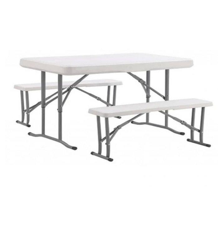 Стол+2 лавки. Лавки складываютца в стол. Очень прочный.1.2 х 0.6 м: Стол+2 лавки. Лавки складываютца в стол. Очень прочный.1.2 х 0.6 м