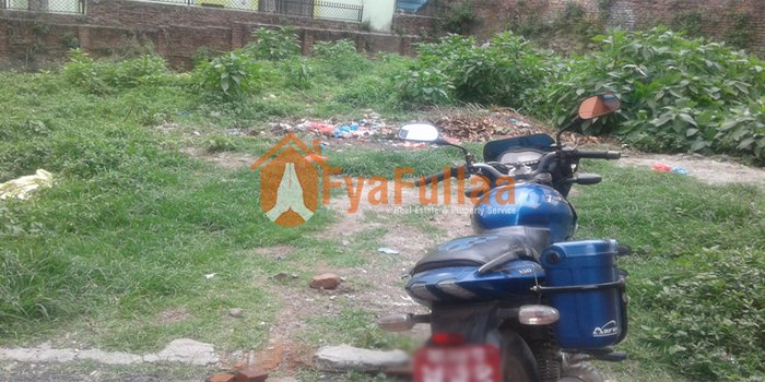 Land having area 0-10-0-0, facing north, 12 feet pitched road is on in Kathmandu