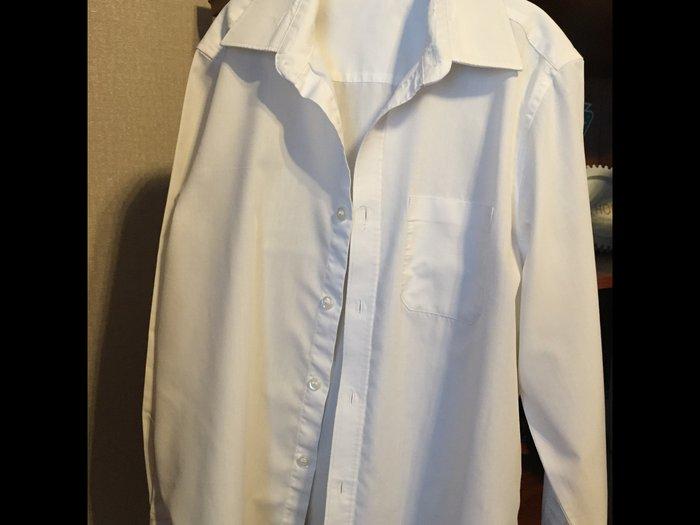 Рубашка для мальчика, в хорошем состоянии, размер 9/10 лет,m&s. Photo 0