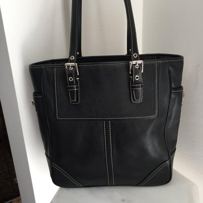 Coach New York Legacy μαύρη, δερμάτινη τσάντα. Photo 7