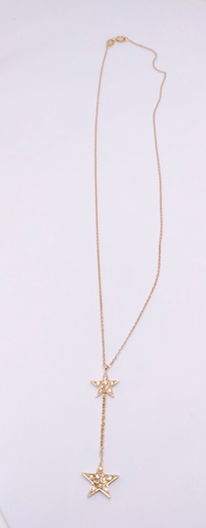 Κολιέ ''Αστεράκια'' από ασήμι 925 σε ροζ χρυσό με λευκά ζιργκόν
