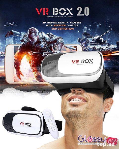 """Ağcabədi şəhərində 3D eynək """"VR Box 2"""" + Game pad"""