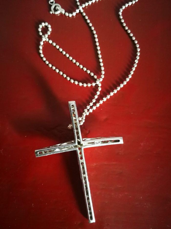 Σταυρος με την αλυσιδα του ασημι 2.5cmx1.7cm. Photo 1