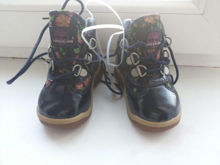 Ботинки деми фирма Timberland. Лакированные. Новые. Размер 20.5. Photo 0