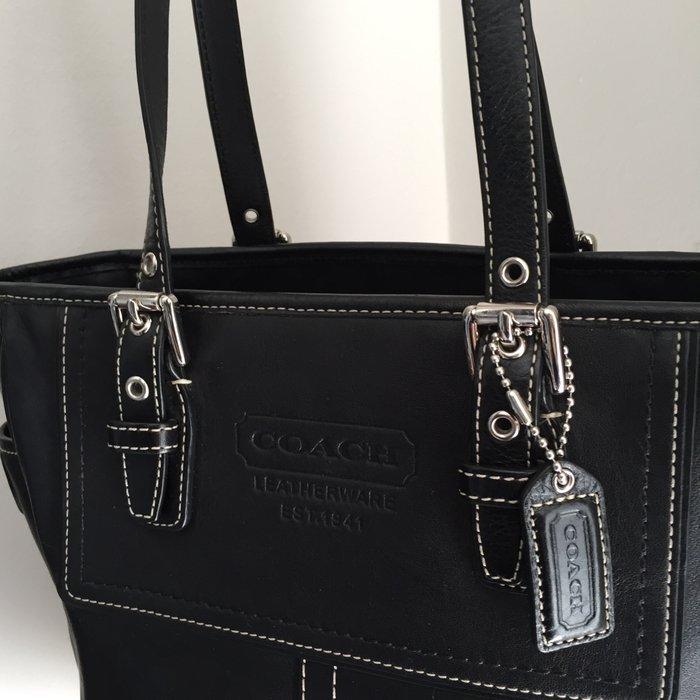 Coach New York Legacy μαύρη, δερμάτινη τσάντα. Photo 5