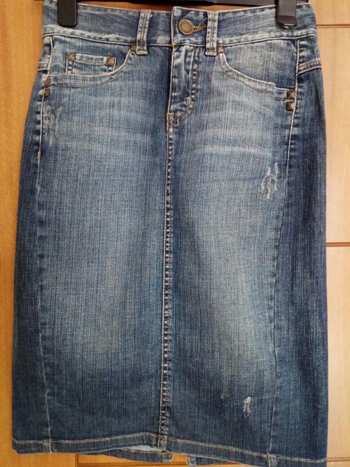 Φούστα τζιν Zara φορεμένη μόνο 2φορες. Photo 0