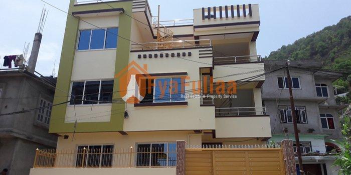 A modern new flat system house having land area 0-2-2-0, facing east, in Kathmandu