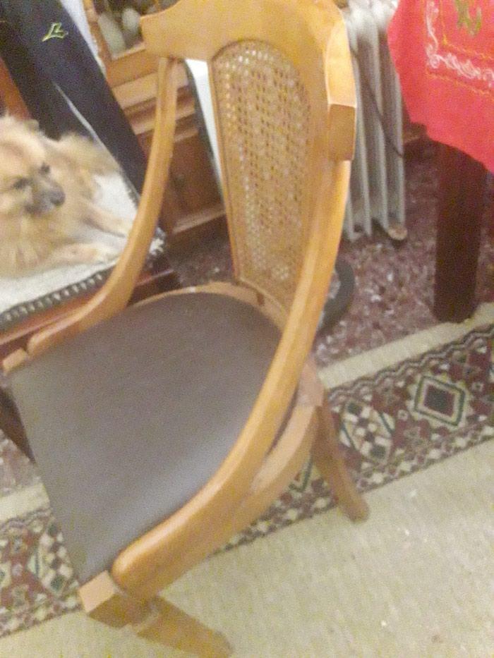 Καρέκλα σε καινουργη,κατάσταση με ψάθα του 1960 τηλ.1. Photo 1