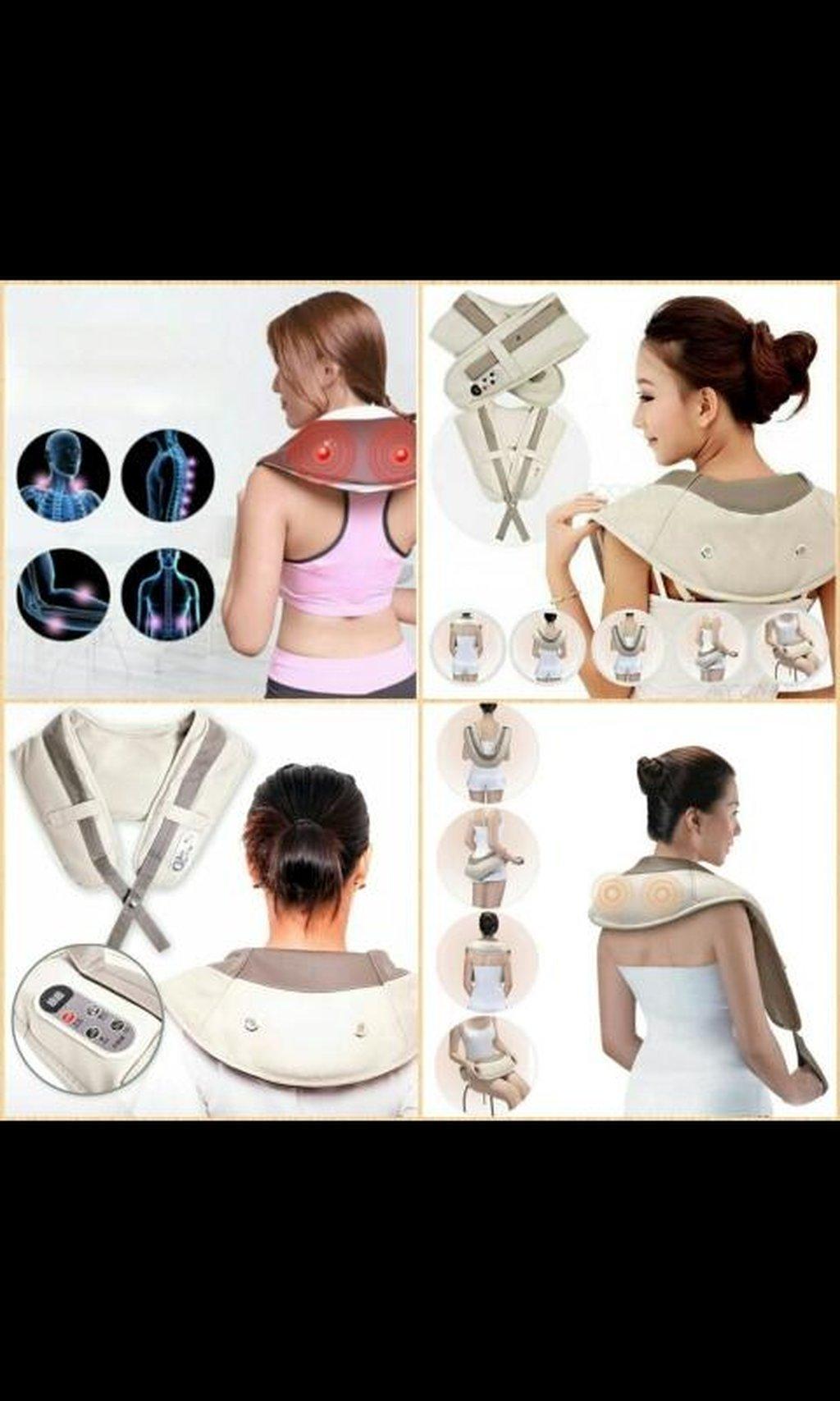 Постукивающий точечный массажер для шеи и плеч Wrap Neck Shoulder Massager предназначен для снятия стресса и расслабления мышц шеи, спины, плеч, бедер, поясницы, икр, ног с помощью методики воздействием на расположенные по всему телу локальные биологически активные точки