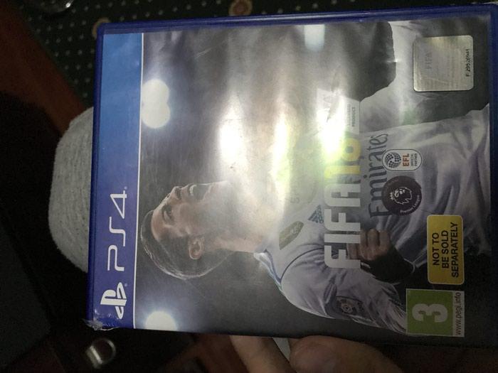 Игра фифа 18 на PS4 диск в очень хорошем в Душанбе