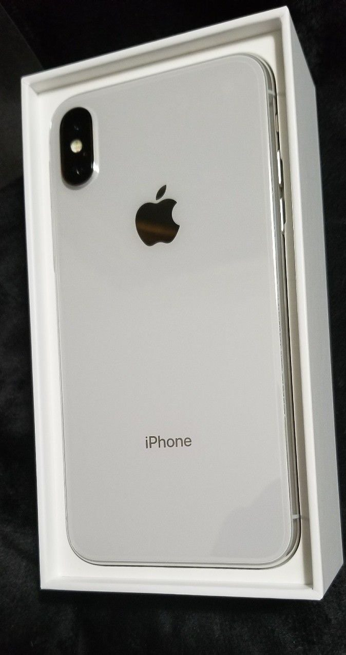 Apple iPhone X - 256GB - Silver (AT&T/T-Mobile) A1901 (GSM) . Photo 0