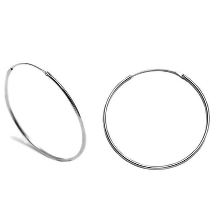 Σκουλαρίκια κρίκοι από ασήμι 925° (45x1,2mm)  Κωδικός: .245. Photo 0