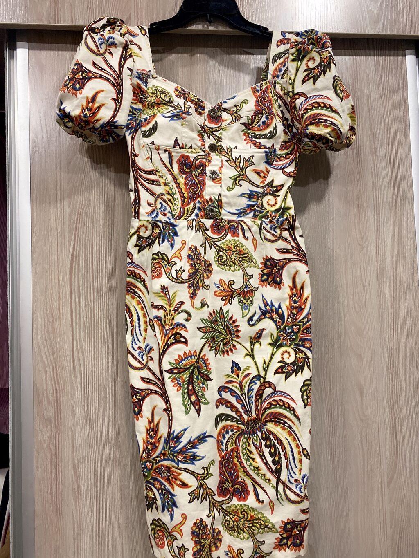 Платье Коктейльное M: Платье футляр из джинсы Etor , сшито на заказ очень дорого ( вверх на