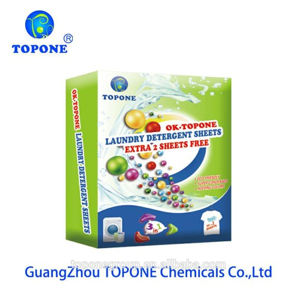 Topone fabric softener laundry detergent sheets are produced from σε Αθήνα