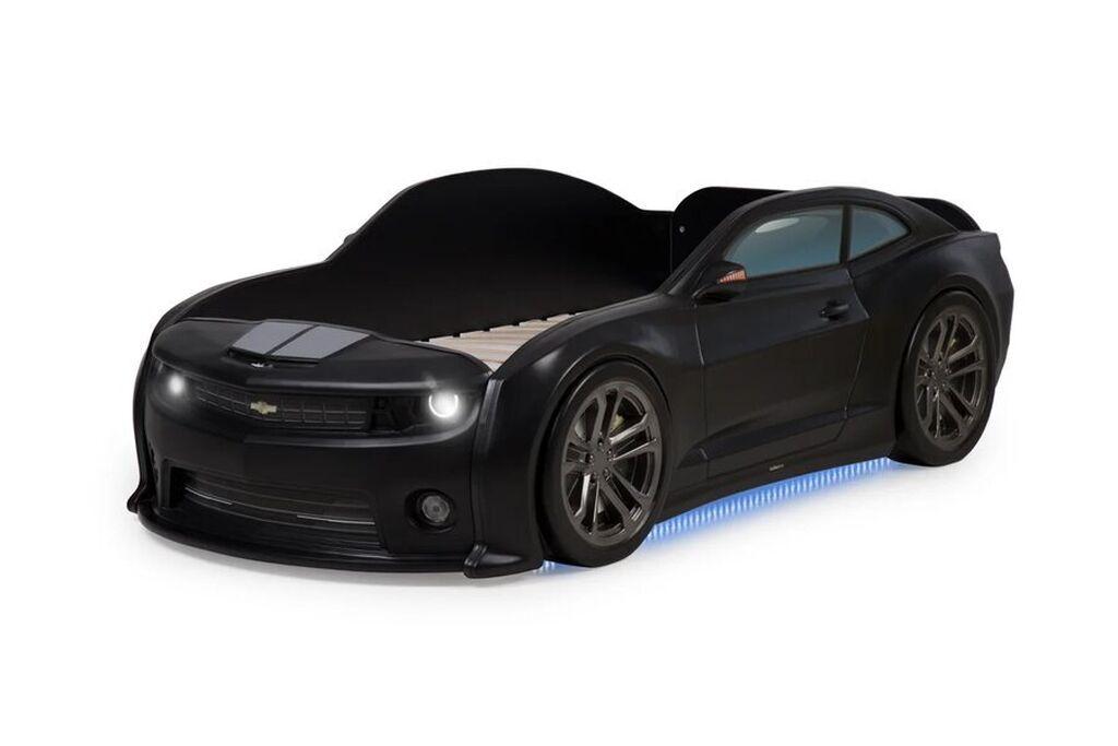 Детская кровать-машина 3d Camaro EVO черный