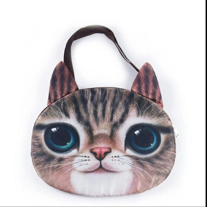 Модная кожаная сумка в форме глаза кошки с блестками