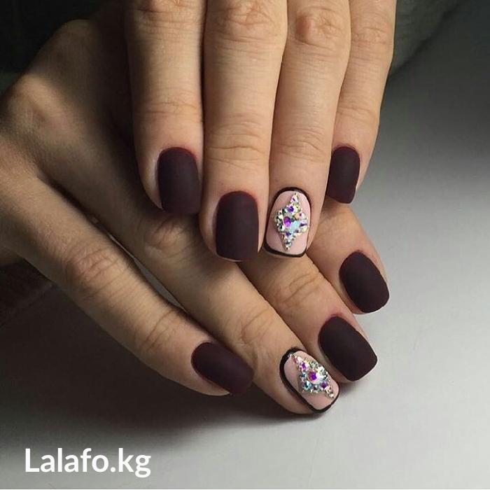 Маникюр + шеллак + дизайн = 450 с,  наращивание ногтей + шеллак + диза в Бишкек