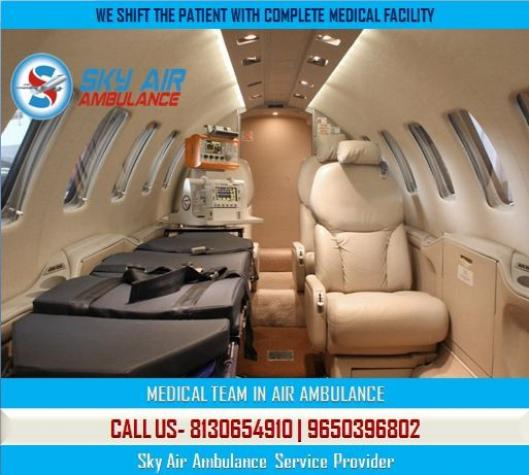 Utilize Air Ambulance from Bhopal with Modern Cure